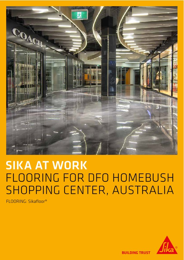 Flooring for DFO Homebush Shopping Center, Australia