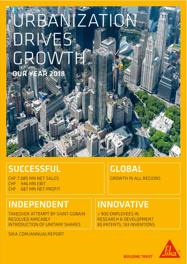 Urbanization Drives Growth - Sika Annual Magazine 2018