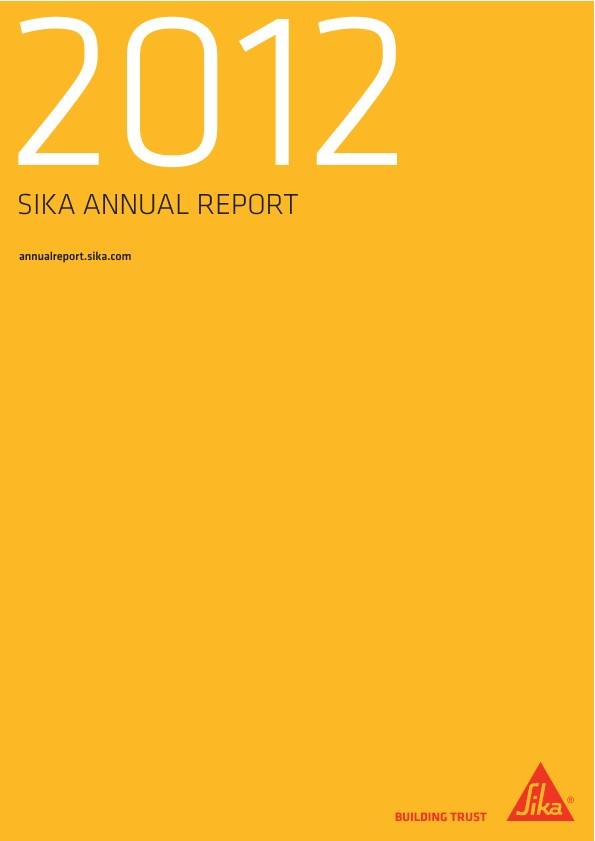 Sika Business Year - Annual Report 2012