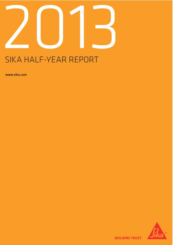 Sika Half-Year Report 2013